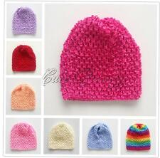Baby Girl Boy Infant Crochet Knit Beanie Hat Handmade Newborn Elastic Caps 0-12M