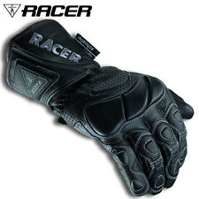 RACER SUMMER FIT LEATHER MENS BIKE MOTORCYCLE GLOVES