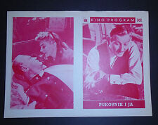 Me and the Colonel Danny Kaye Curd Jurgens 1958 EXYU MOVIE PROGRAM