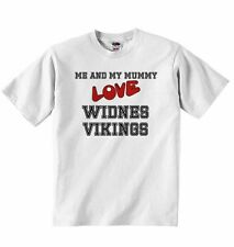 Me and My Mummy Love Widnes Vikings - Baby T-shirt Tees for Boys, Girls