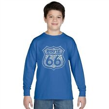 Boy's Long Sleeve T-shirt - Route 66 - Get Your Kicks