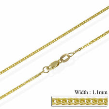 9ct Solid Yellow Gold Chain 375 16,18,20,22,24 Wheat Spiga Necklace Hallmarked