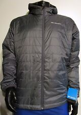 Mens L XL XXL Columbia Crested Butte Puffer Omni-Heat Hooded Insulated Jacket