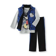 Disney Baby Mickey Mouse Toddler Boy's Vest Shirt & Sweat Pant Size 4T & 5T BLUE