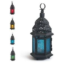 Glass Metal Moroccan Delight Garden Candle Holder Table/hanging Lantern  great