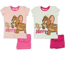 GIRLS TOM & JERRY PYJAMA AGE 2 3 4 5 6 7 OFFICIAL TOM AND JERRY SUMMER PJS