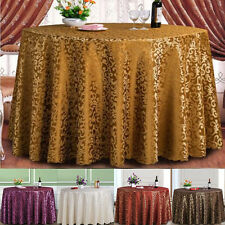 Damask Jacquard Natural Round Table Cloth Cover Wedding Party Style Elegant