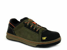 Caterpillar CONCAVE LO ST Steel Toe Mens Work Athletic Olive Leather Suede Shoes
