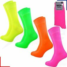 Mens Neon Teddy Boy Fancy Dress 80's Disco Party Bright Socks UK 6-11