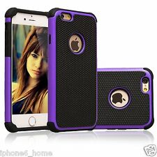 Tough Armor Dual Layer Purple Case Cover For iPhone 5/5s/SE & 6/6s 6/6s Plus
