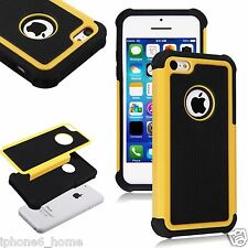 Heavy Duty Tough Armor Dual Layer Yellow Case For iPhone 5/5s & 6/6s & 6/6s Plus