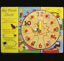 MY FIRST CLOCK WOODEN PUZZLE NEW, GIFT IDEA,KIDS LEARN TO TELL THE TIME FUN.
