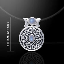 Celtic Knot of Realities .925 Sterling Silver Pendant Choice of Gem Peter Stone