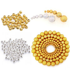 100-500pcs Silver/Golden Stardust Copper Ball Spacer Beads 3/4/5/6/8/10mm Hot