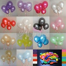 100Pcs Colorful Pearl Latex Balloons Celebration Party Wedding Birthday 10""
