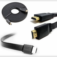 High Speed Gold Plated Flat Hdmi Male with fast Ethernet cable lead for ps3 Lcd