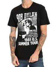 BOB DYLAN 1981 US SUMMER TOUR T-Shirt Black NWT Authentic & Official
