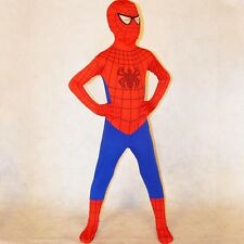 Children Boys Red Spiderman Costume Halloween Superhero Cosplay Spandex Bodysuit