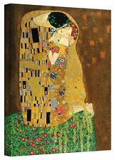 Gustav Klimt 'The Kiss' Gallery Wrapped Canvas Stretched Canvas Print by Klimt,