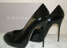 RRP £138 BNWB BOURNE SIZE 3 36 RACHELLE BLACK PATENT REAL LEATHER COURT SHOES