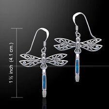 Dragonfly .925 Sterling Silver Earrings Choice of Gemstone Peter Stone