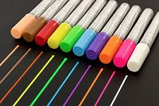 Fluorescent Liquid Chalk Markers Dual Tip White Chalkboard Blackboard Pen (USA)