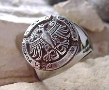 POLISH EAGLE ADLER RING BAGUE POLAND POLOGNE POLSKA ORZEL FLAG GODLO PIN ID D44