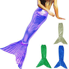 mermaid tail kids party children halloween costumes girl Fancy dress Custom Made