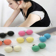 Hot Sale Lovely Cute Candy Colourful Disco Round Ball Earrings Ear Studs 3 pair