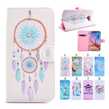 New Diamond Flip PU Leather Wallet Holder Protect Cover Case For Samsung Galaxy