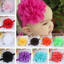 Fashion Kids Baby Girls Baby Headband Toddler Lace Big Flower Hair Band Headwear