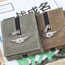 Fashion  Men  Boys Combat Zipper Decoration Wallet  Pouch Case Tri-fold Card New