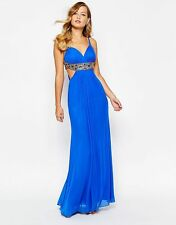 BNWT Forever Unique Kirsty Cut Out Embellished Grecian Maxi Dress *SALE*RRP £275
