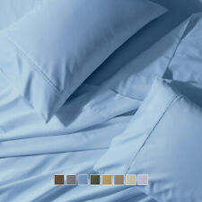 Wrinkle-Free 650 Thread Count Solid Combed Cotton Sheets Pillowcase Collection