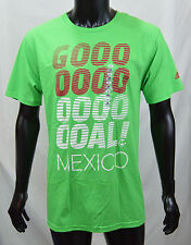 ADIDAS Vivid Green Cotton Blend SS T-Shirt Mexico GOAL Mens Size L XL XXL NEW