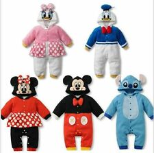 a  set BABY BOYS GIRLS DISNEY CARTOON COSTUME HAT SUMMER ROMPER OUTFIT CLOTHES