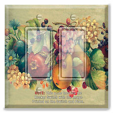 Light Switch Plate Cover Grapes Apples Pears  w/ Rocker Switch or Outlet