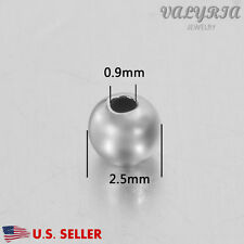 Wholesale 925 Sterling Silver Round Spacer Beads Jewelry DIY Findings 2.5x0.9mm