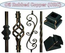 Oiled Rubbed Copper Metal spindles Iron stair parts Iron balusters basket twist