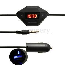 Wireless FM MP3 Transmitter Modulator USB Car Charger Handsfree For iPhone ipod