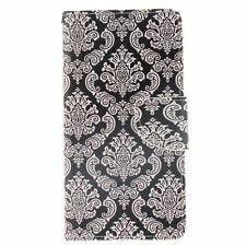 Totem Flower Leather Flip Stand Card Slot Wallet Case Cover Skin for Cell Phones