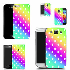 gel rubber case cover for  Mobile phones - multi colour polka silicone