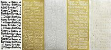 HAPPY BIRTHDAY Type 1 PEEL OFF STICKER Candles Dots Stars Squares Cardmaking
