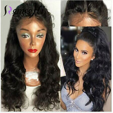 Sexy Body Wave Wigs 100% Remy Human Hair Lace Full/ Front Wig Natural Baby Hair