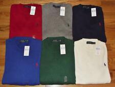 NEW NWT Mens Polo Ralph Lauren Crewneck Sweater Cotton $98 6-Colors Pony Logo