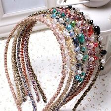 Women Lady Top Fashion Metal Rhinestone Covered Headband Headwear Hair Band Good
