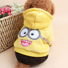 New Hoodie Costume Dog Clothes Pet Jacket Coat Puppy Minions Costumes Apparel Wi