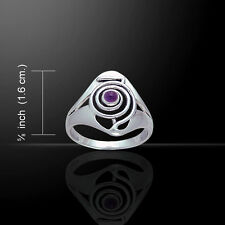 Reiki Healing .925 Sterling Silver Ring Choice of Gemstone by Peter Stone