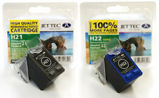 HP21 - HP22 Black & Colour Remanufactured Printer Ink Cartridges H21 H22