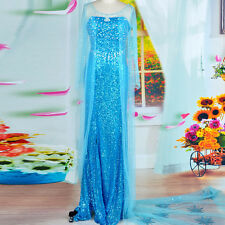 frozen adult princess elsa costume snow queen cosplay Party Fancy Dress Plus SZ